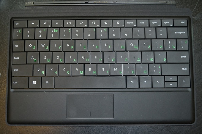 Microsoft Surface-russian-keyboard-green