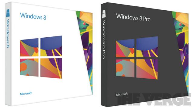 Внешний вид упаковки Windows 8