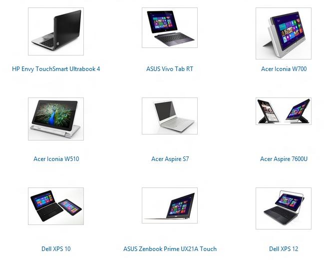Официальный каталог Windows 8 устройств
