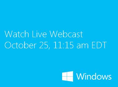 Прямая трансляция презентации Windows 8