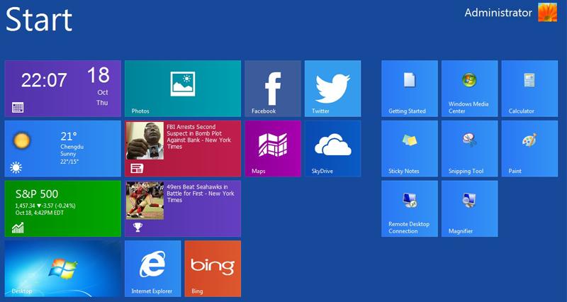 Metro UI для Windows XP