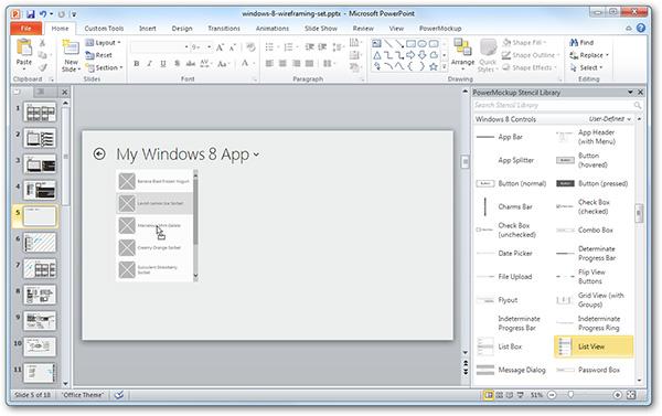 Прототипирование приложений для Windows 8