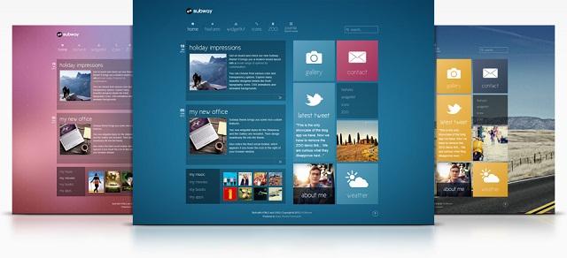 Коллекция тем для WordPress с интерфейсом Windows 8