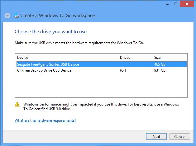 Windows-to-go