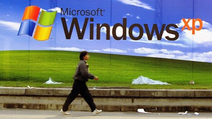 Рекламный плакат Windows XP, ноябрь 2001 года, Пекин